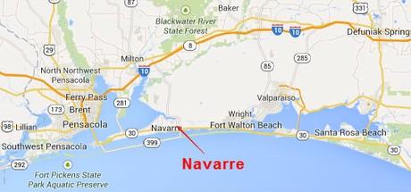 Map Location of Navarre Florida