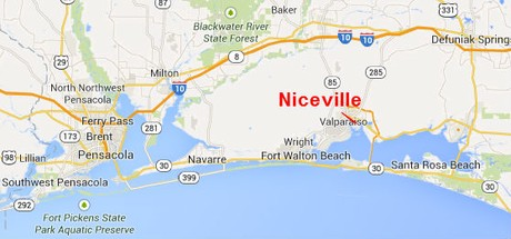 Map Location of Niceville Florida