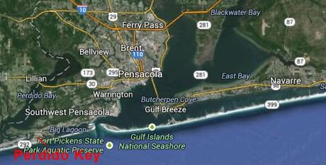 Map Location of Perdido Key, Florida