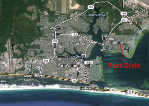 Map Location of Port Dixie Subdivision