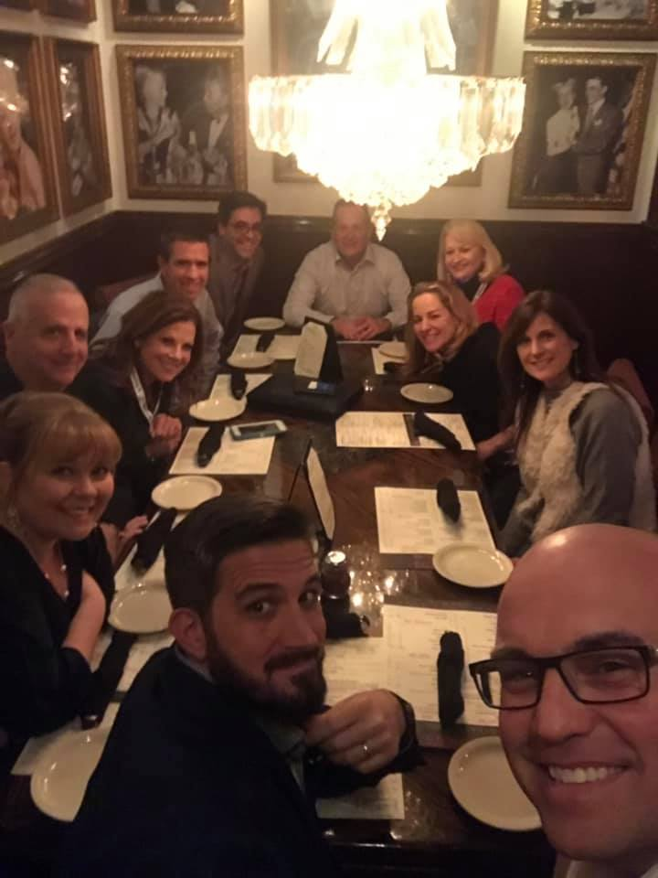 dinner out with realtors from the Realtor Convention