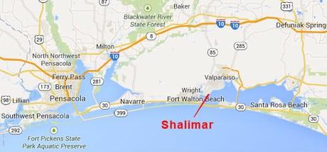 Map Location of Shalimar Florida