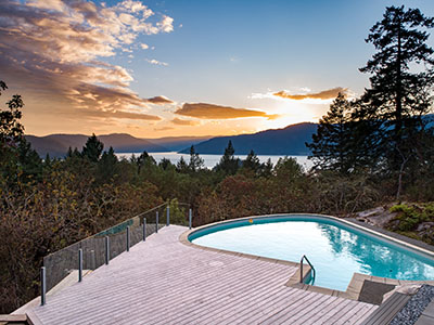 A client's amazing pool addition in Saanich