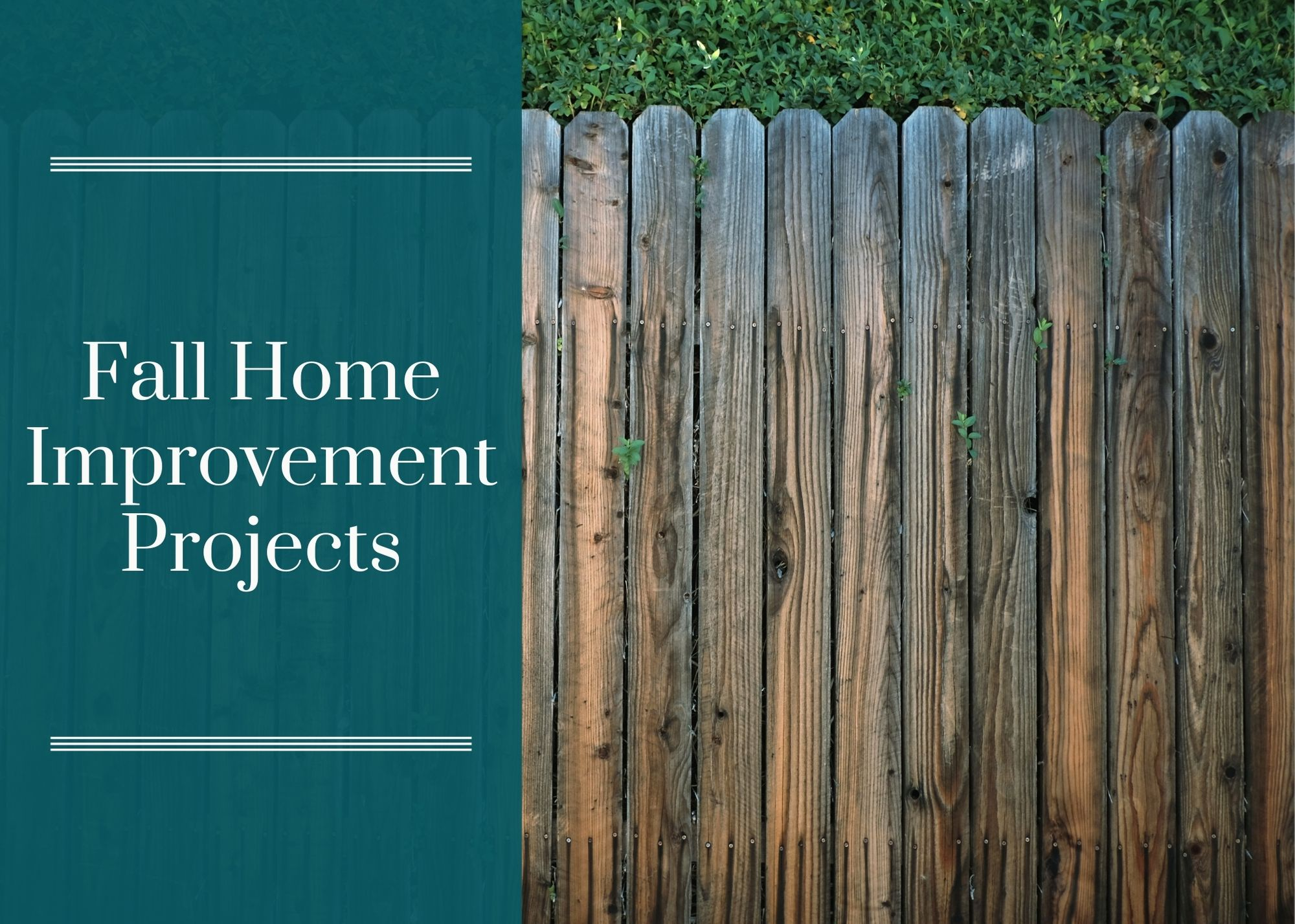 Fall Home Improvement Projects