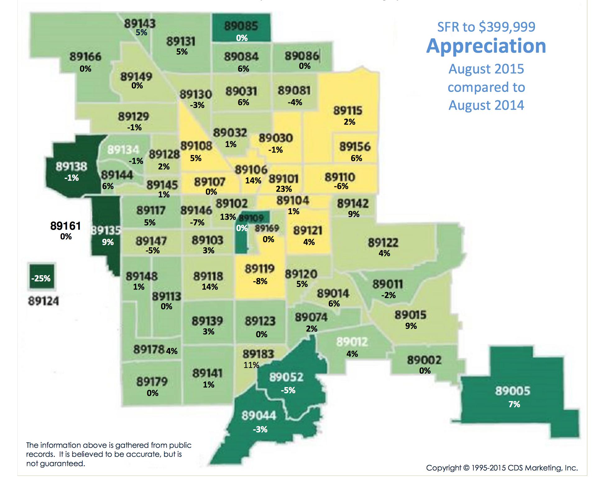 August 2015 Price Appreciaiton Map
