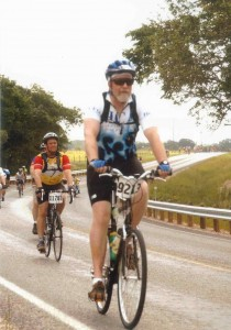 Roger Martin and Larry Massey completed the 2004 MS 150 bicycle ride