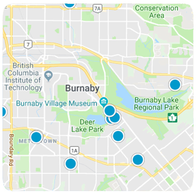 Burnaby Homes Map Search
