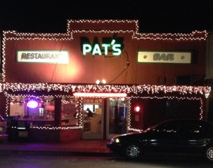 Pat's Restaurant at night