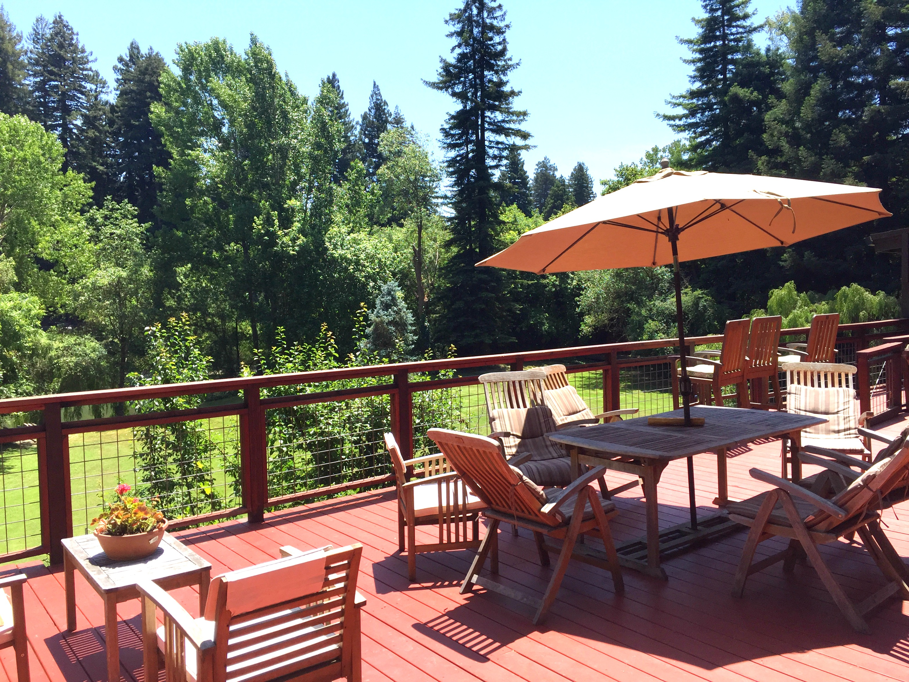 Front Deck Of The Guerneville Lodge