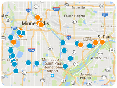 Twin City Real Estate Map Search