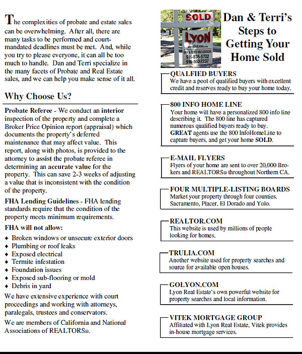 Probate and Estate Sales Part One
