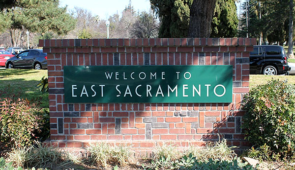 East Sacramento Entrance Sign