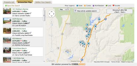 Colfax CA Real Estate Map Search