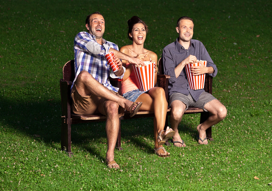 Enjoy movies in the park near Helotes homes.