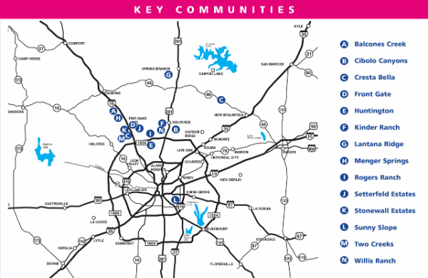 2015 Spring Tour of Homes MAP