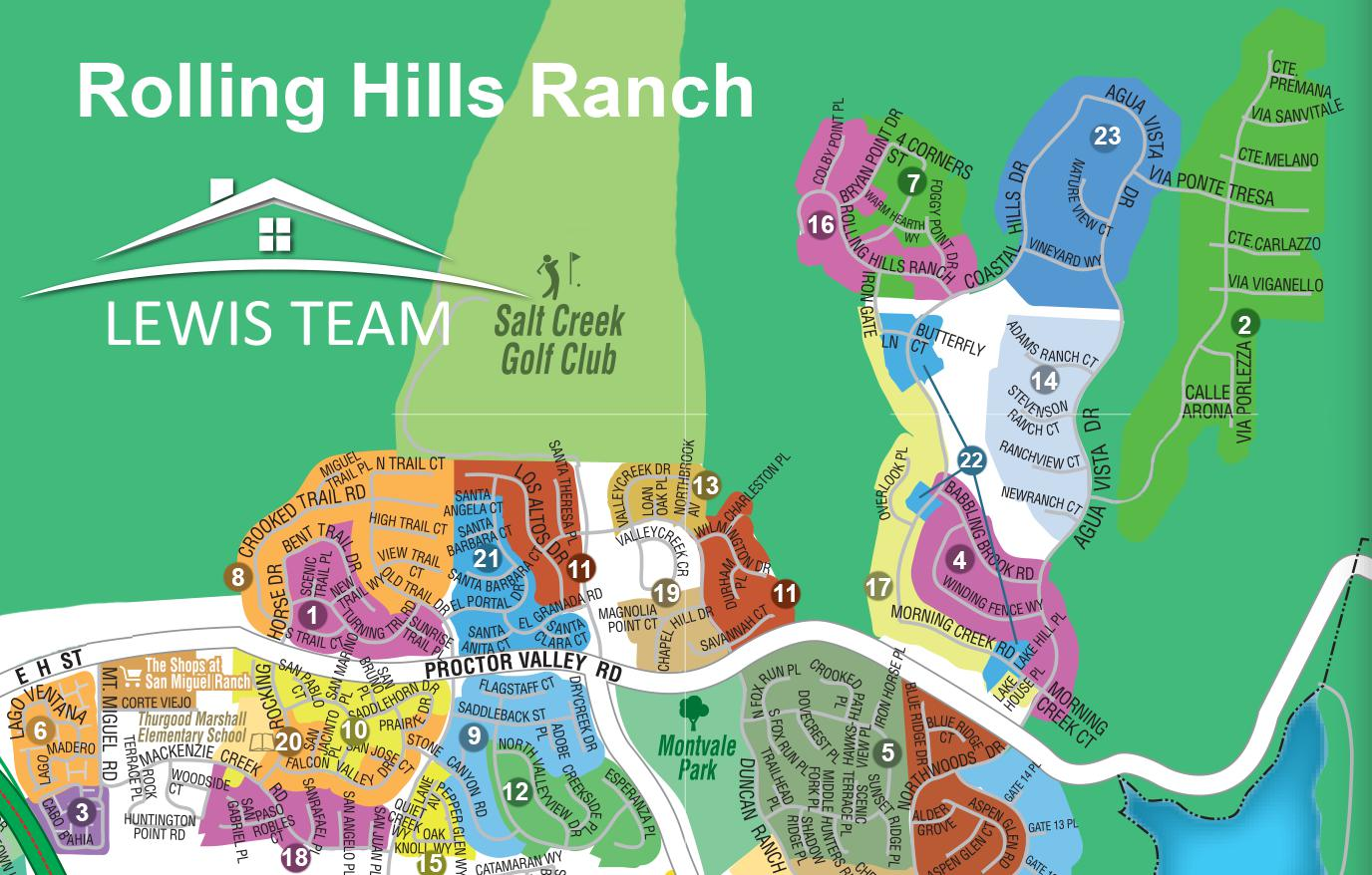 Rolling Hills Ranch Map