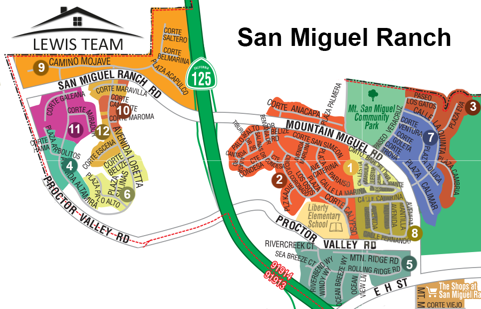San Miguel Ranch Map