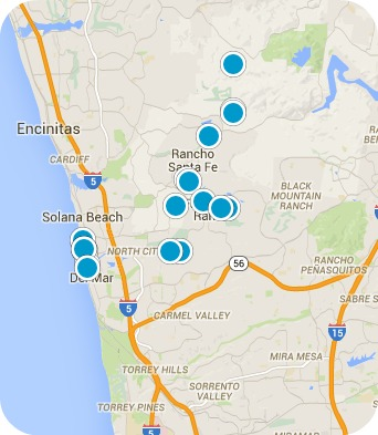San Diego North Coastal Real Estate Map