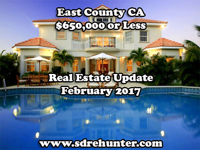 San Diego County $650,000 or Less Real Estate Update