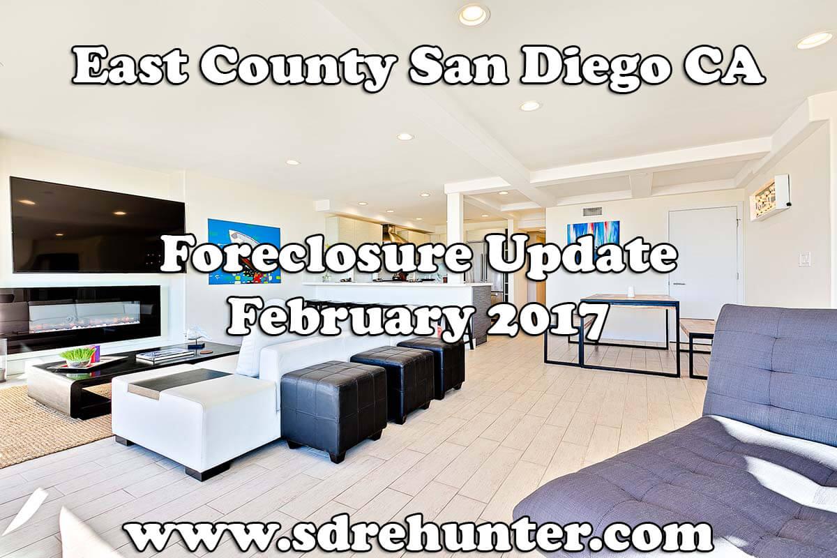 East County San Diego CA Foreclosure Update - February 2018