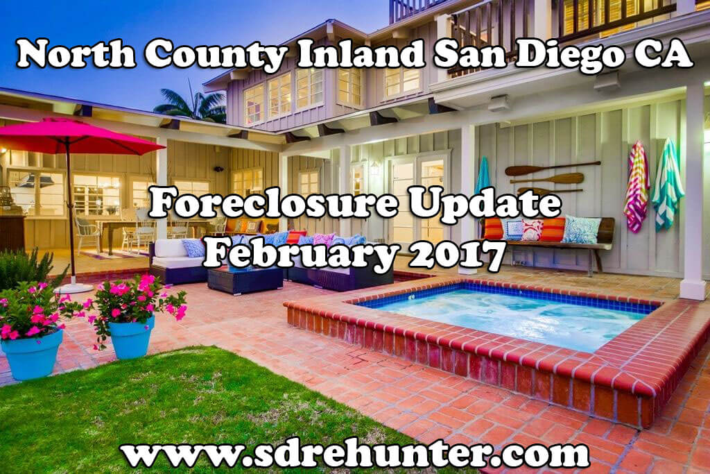 North County Inland San Diego CA Foreclosure Update - February 2017