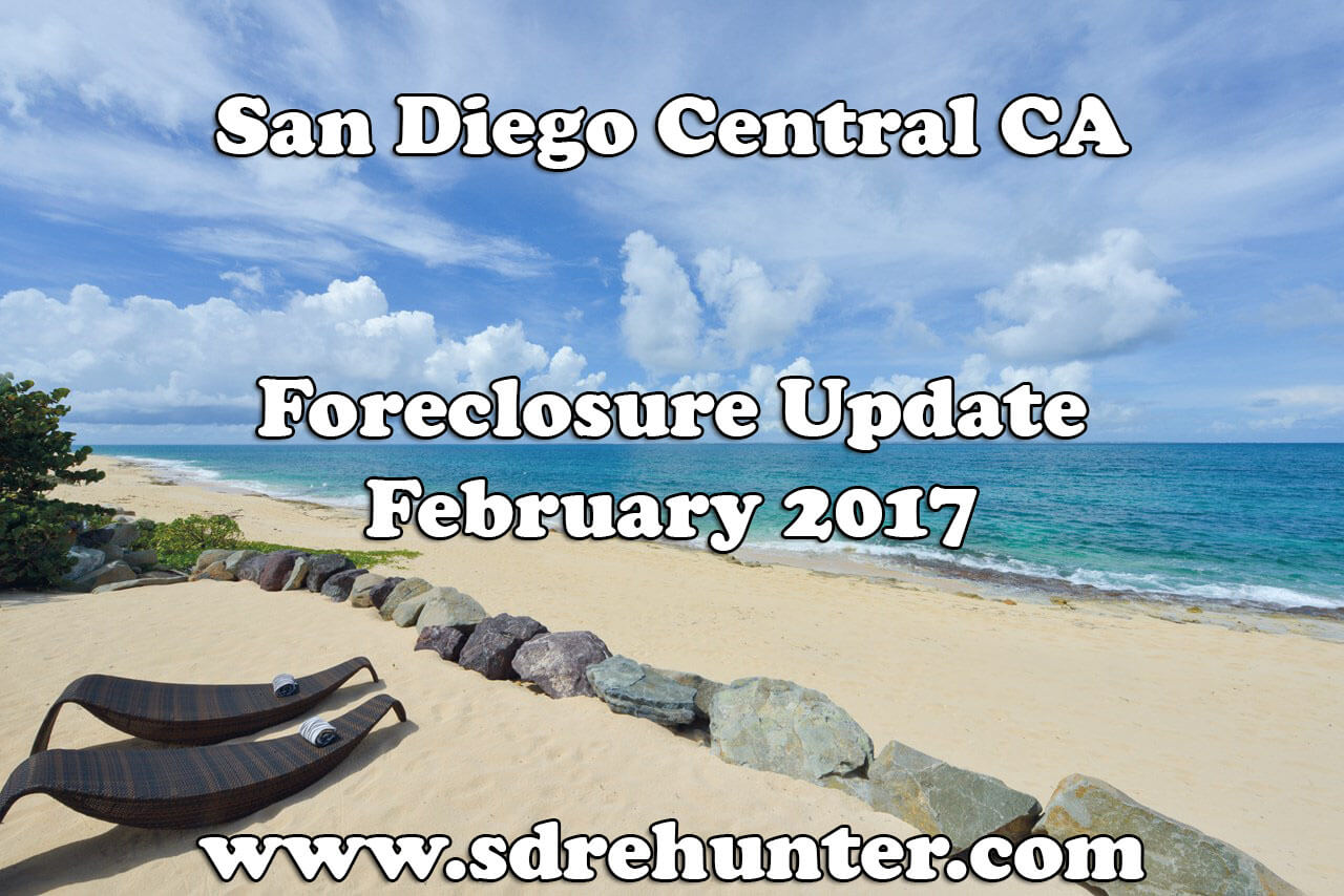 San Diego Central CA Foreclosure Update - February 2017