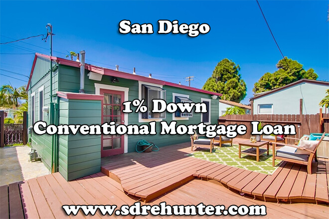 San Diego 1% Down Conventional Mortgage Loan (2019 Update)