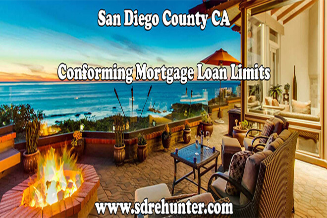 San Diego County CA Conforming Mortgage Loan Limits for 2018