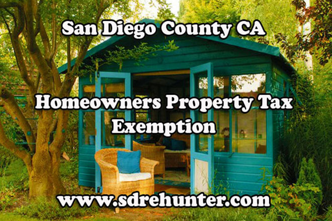 San Diego County CA Homeowners Property Tax Exemption (2018 Update)