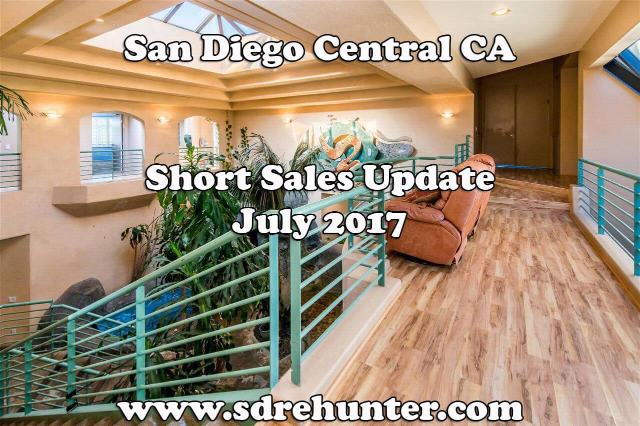 San Diego Central CA Short Sales Update - July 2017