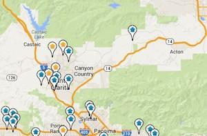 Santa Clarita Valley map