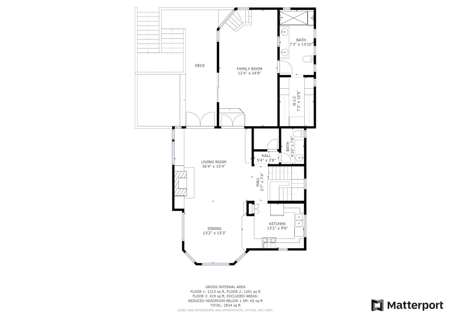 127 Bethany Curve - second level floor plan