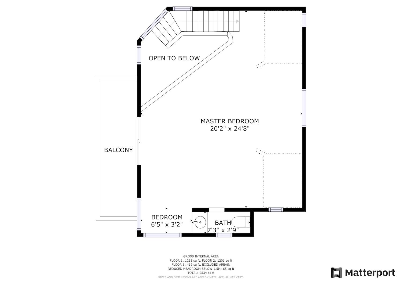 127 Bethany Curve - third level floor plan