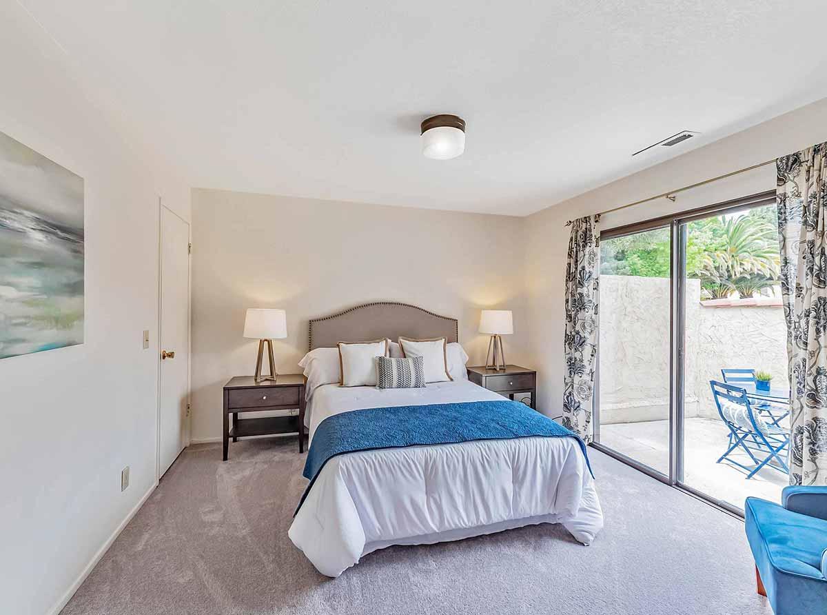 bedroom with patio santa cruz