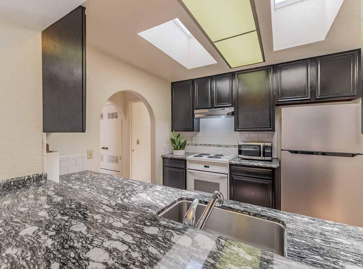 updated beach house kitchen