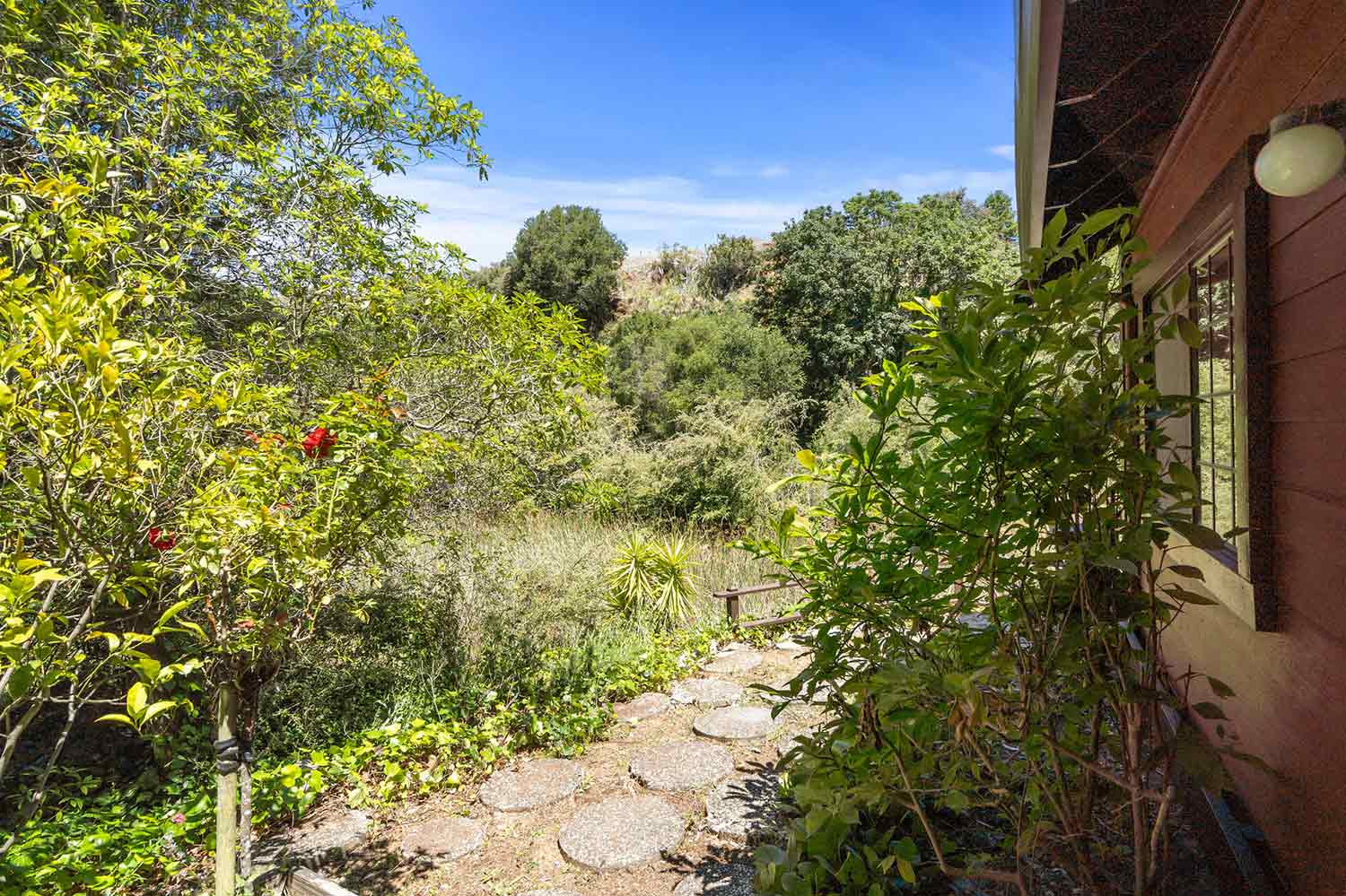 222 quarry lane santa cruz - view from yard