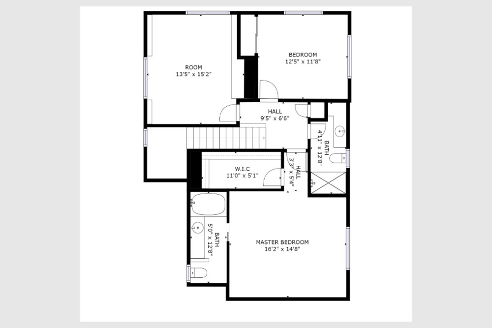 222 quarry santa cruz - second level floor plan