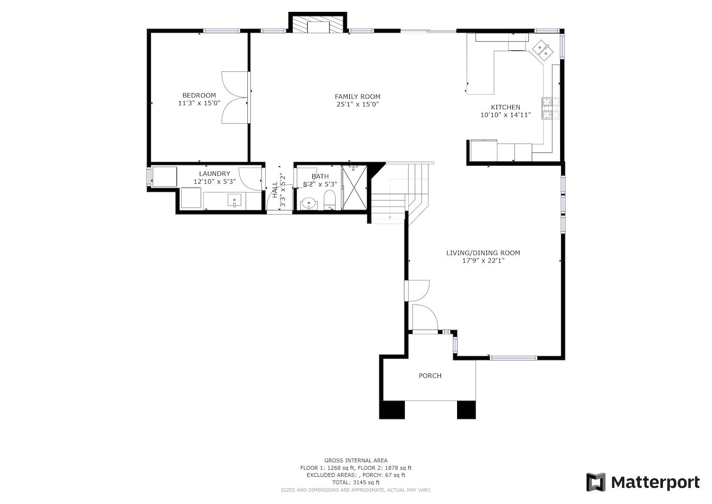 2241 Glenview Dr - main level floor plan
