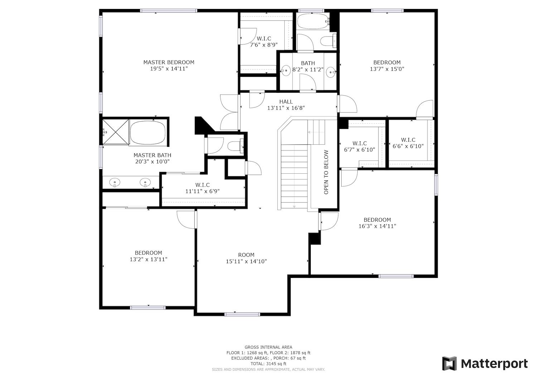 2241 Glenview Dr - second level floor plan