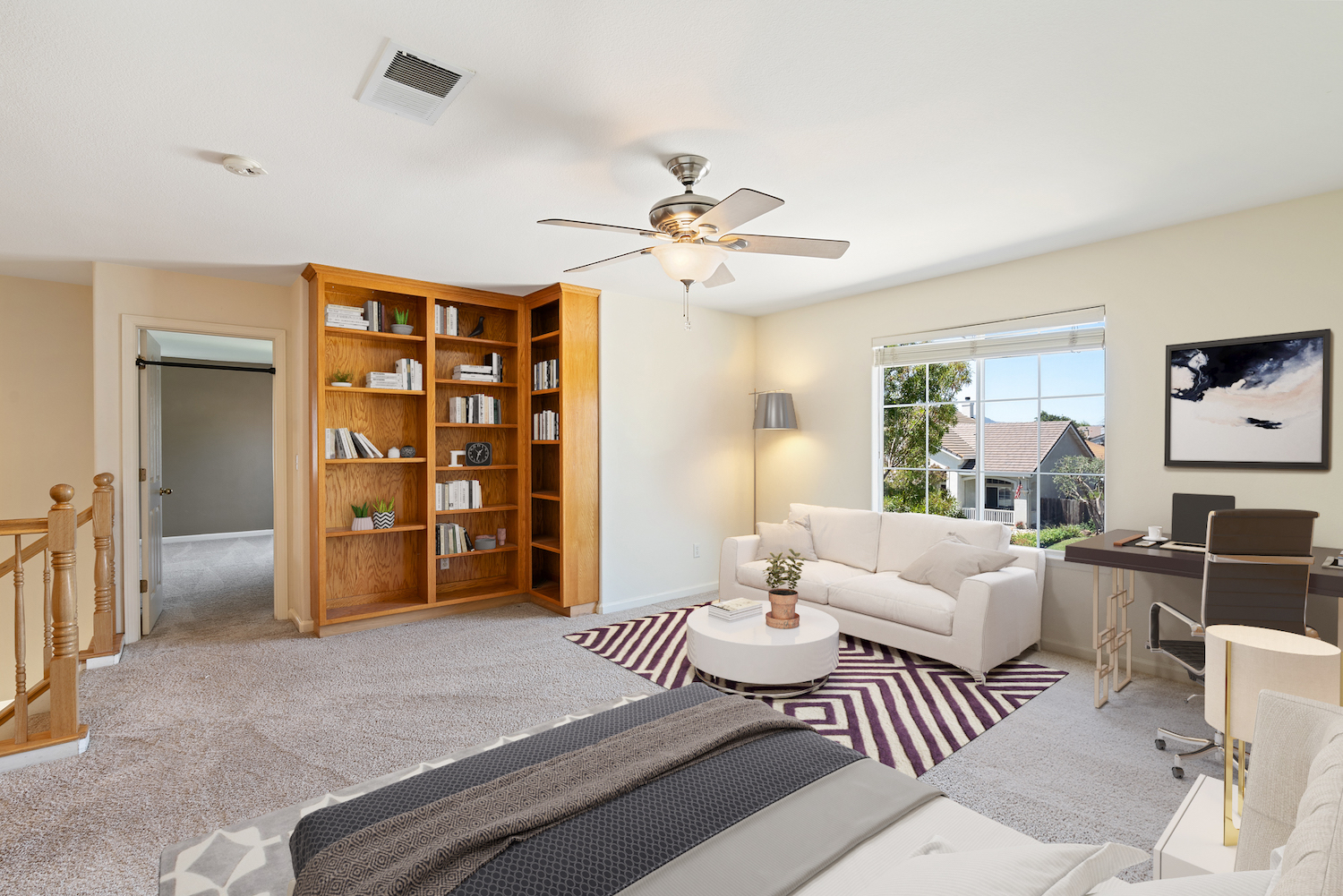 2241 glenview dr - upstairs open space furnished