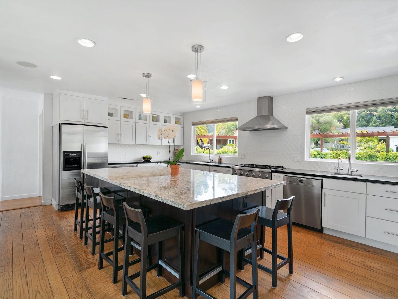 239 ross street santa cruz - kitchen with island