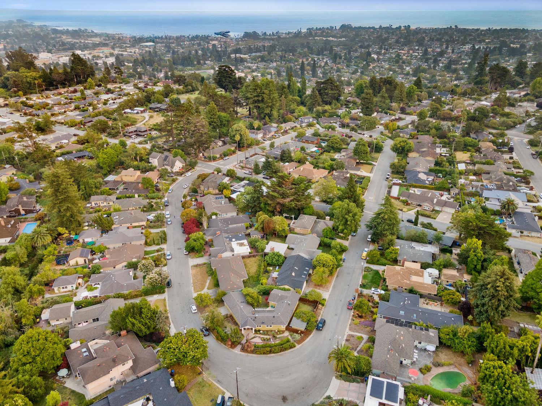 239 ross street santa cruz - aerial view of neighborhood