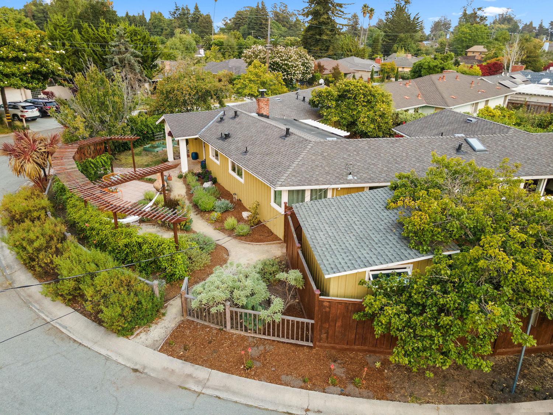 239 ross street santa cruz - aerial view of house