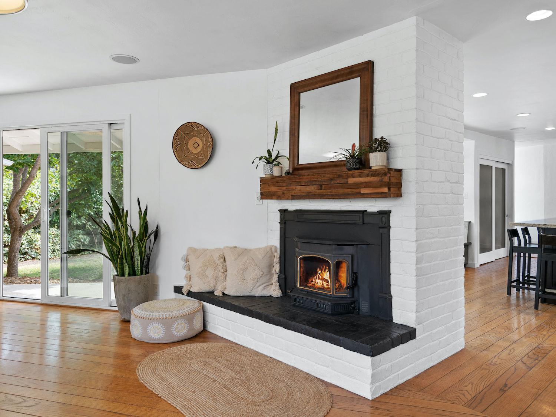 239 ross street santa cruz - fireplace