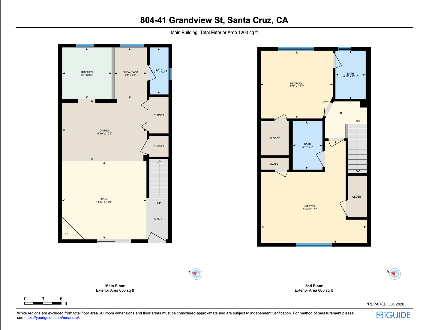 41 grandview 804 - main level floor plan