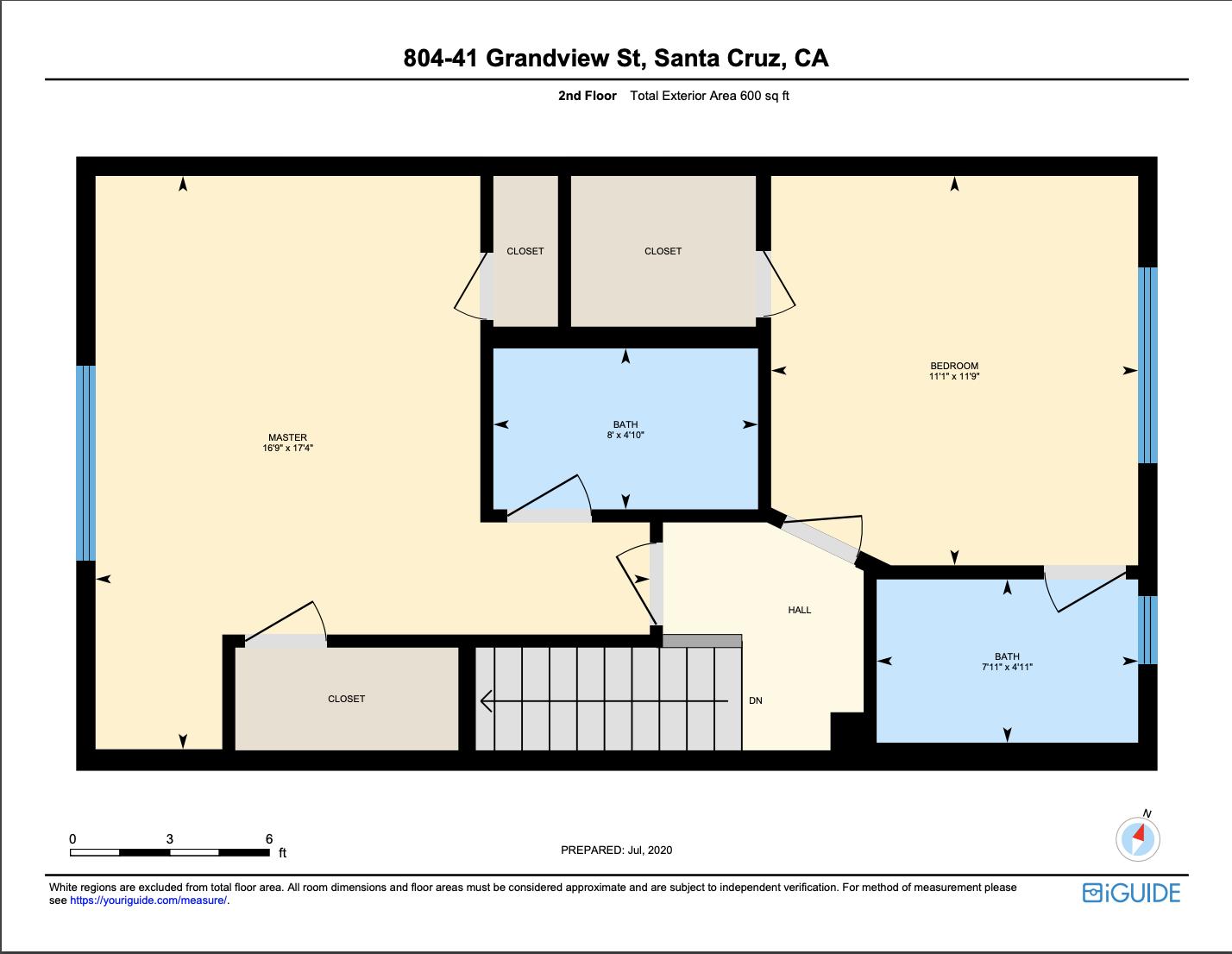 41 grandview 804 - second level floor plan