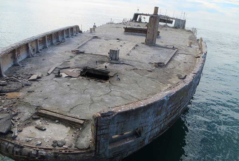 santa cruz cement ship