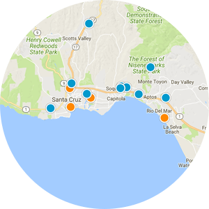 Santa Cruz Multi-Family Properties Real Estate Map Search