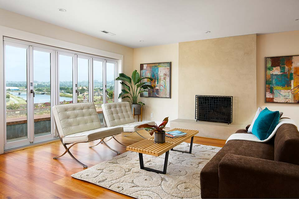 santa cruz home with open living room