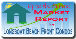 The Longboat Key real estate market report for beach front condos
